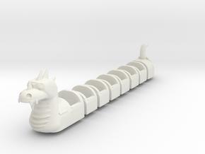 Dragon Wagon Coaster 1/43 scale in White Natural Versatile Plastic