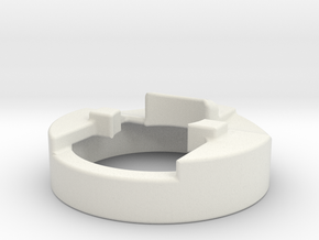 Groove Mount Adapter in White Natural Versatile Plastic