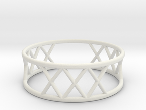 XXX Ring Size-11 in White Natural Versatile Plastic