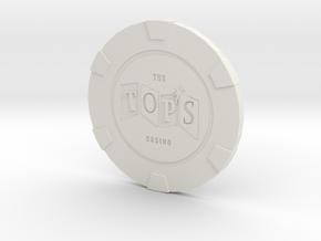 The Tops Poker Chip in White Natural Versatile Plastic