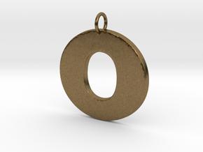 O Pendant in Natural Bronze