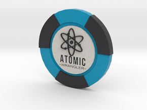 Atomic Wrangler Poker Chip in Full Color Sandstone