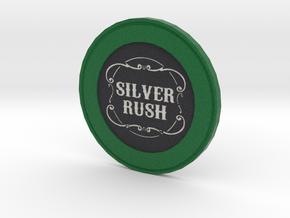 Silver Rush Poker Chip in Full Color Sandstone