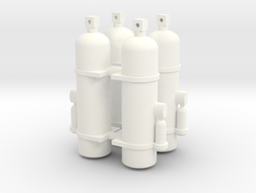 Fire Extinguisher 1/12 X4 V1 in White Processed Versatile Plastic