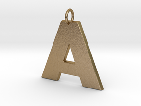 A2 Pendant in Polished Gold Steel