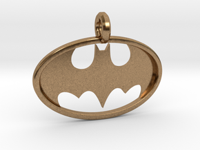 Classic Batman Keychain in Natural Brass
