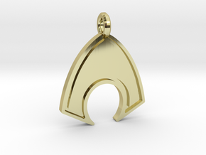 Aquaman Keychain in 18k Gold Plated Brass