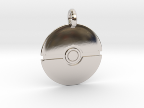 Poké Ball Keychain in Rhodium Plated Brass