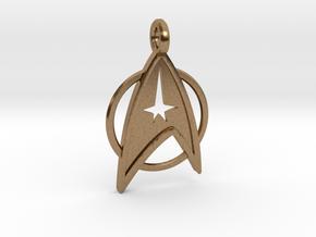 Star Trek Keychain in Natural Brass
