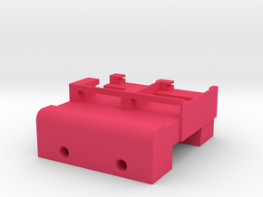 Neoden 2-Gang, 24mm feeder block in Pink Processed Versatile Plastic