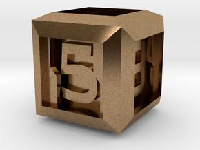 Sci-fi Crate D6 - 16mm die in Natural Brass