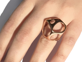 Vororing in 14k Rose Gold Plated Brass: 7 / 54