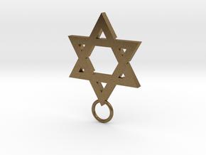 Star of David 2mm in Natural Bronze