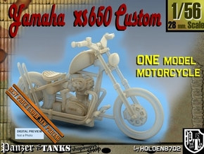 1-56 Yamaha XS650 Custom in Smooth Fine Detail Plastic