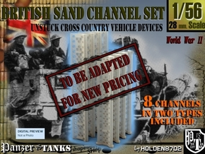 1-56 British Sand Channel Set in Transparent Acrylic