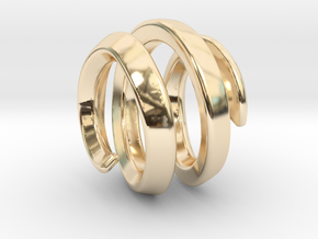 filler for sphere spiral 16mm in 14k Gold Plated Brass