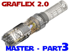 Graflex2.0 - Master Chassis - 3/7 Shell 2 in White Strong & Flexible