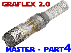 Graflex2.0 - Master Chassis - 4/7 Shell 3 in White Natural Versatile Plastic