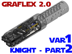 Graflex2.0 - Knight Chassis Variant 1 - Part2 in White Natural Versatile Plastic