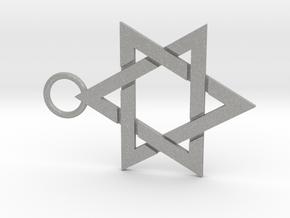 Star of David 1mm in Aluminum