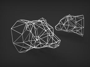 Wireframe Model in White Natural Versatile Plastic
