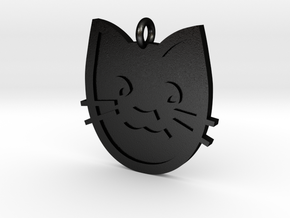 Cat Pendant in Matte Black Steel