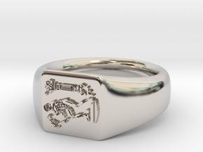 NTUA Male Ring in Platinum