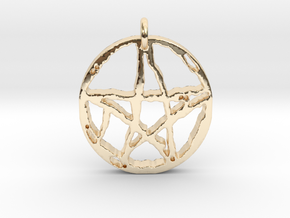 Rugged Pentacle 1 by Gabrielle in 14k Gold Plated Brass