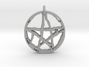 Rugged Pentacle 1 by Gabrielle in Raw Aluminum