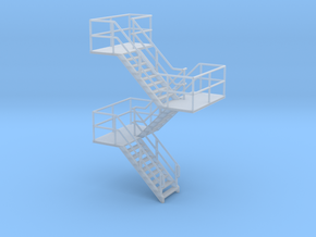 HO Staircase 57.5mm in Smooth Fine Detail Plastic