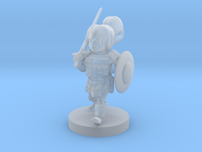 Gnome  Female Fighter in Smooth Fine Detail Plastic