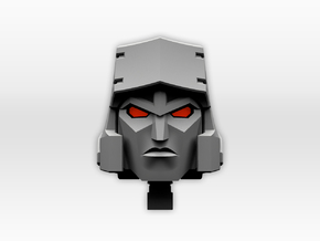 (2mm Screw) TR Faceplate & Helm for CW Megatron in White Natural Versatile Plastic