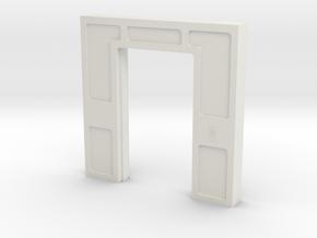 Door, Double Open No Threshold (Space: 1999) 1/30 in White Natural Versatile Plastic
