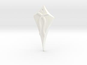 Flow Pendant 1 in White Processed Versatile Plastic