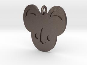 Koala Pendant in Polished Bronzed Silver Steel