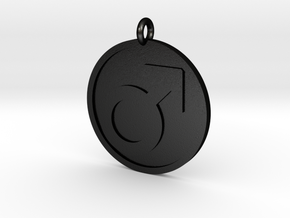 Male Pendant in Matte Black Steel