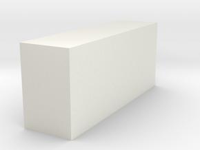 Z 035 Gefahrgutschrank für Europaletten HO in White Natural Versatile Plastic: 1:87 - HO