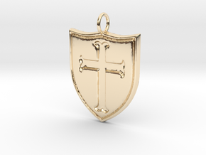 Crusader Pendant in 14K Yellow Gold