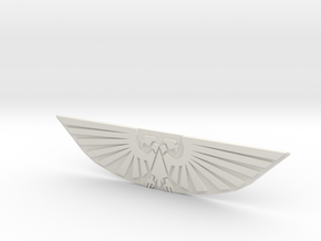 Imperial Eagle Plate in White Natural Versatile Plastic