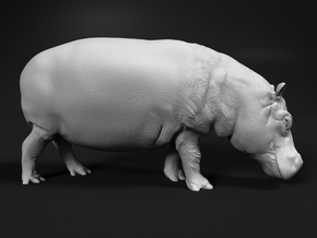 Hippopotamus 1:120 Walking Female in Smooth Fine Detail Plastic