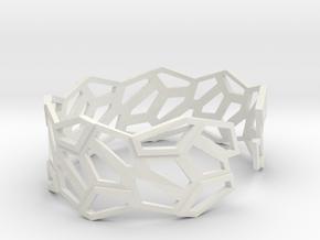 STEIN Cuff Bracelet in White Natural Versatile Plastic: Large