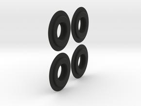 Dlux Knuckle Bolt Slider 2 pairs in Black Natural Versatile Plastic