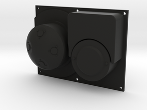 K14 Gunsight Front Plate in Black Natural Versatile Plastic