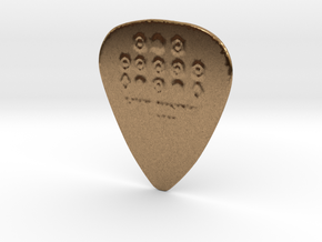 Luck Rising 1 MM PROTOTYPE II Guitar PICK in Raw Brass