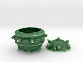 High-Poly Stickybomb Bowl in Gloss Oribe Green Porcelain: Small
