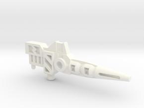 Transformers Pretender Carnivac gun in White Processed Versatile Plastic