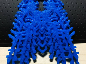 Parametric Necklace / Pendant / Brooch v.3 in Blue Processed Versatile Plastic