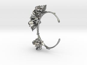 Cherry Blossom Bracelet in Natural Silver: Medium