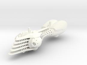 Last Exile. Disith Warship in White Processed Versatile Plastic