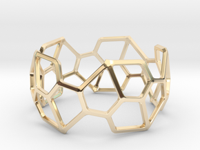 Catalan Bracelet - Pentagonal Hexecontahedron in 14k Gold Plated Brass: Large